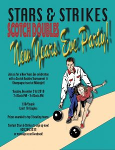 New Year's Eve Party/Scotch Doubles Tournament Couples bowling tournament @ Stars and Strikes